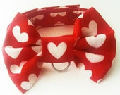 Dog or Cat Bow Tie: Valentine Hearts or Halloween Bats Orange and Black Holiday Instagram or Twitter Photo Prop Pitbulls Poodles Boxers GSD