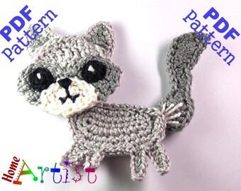 Wolf Crochet Applique Pattern