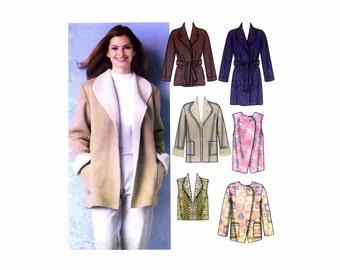 Misses Coats Jackets Vests Simplicity 5306 Sewing Pattern Size 6 - 8 - 10 - 12 - 14 - 16 UNCUT