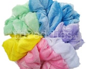 9 velvet scrunchies //  pink your VELVET scrunchie assortment - rainbow, dark, pastel, black and more