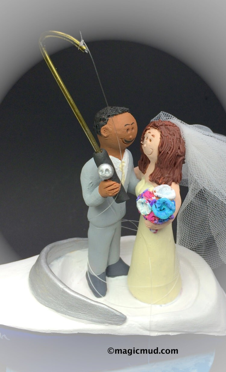 MultiRacial Wedding Cake Toppers Custom Made By WeddingCakeToppers