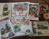 EIGHT Victorian Era Postcards. Lovely Antique Ephemera.