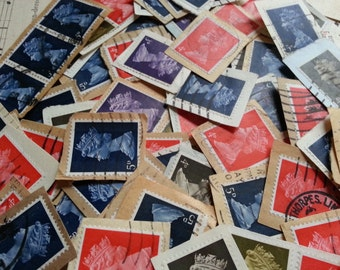 200 Vintage Postage Stamps. Lovely, Used, STAMPS. God Save the Queen ...
