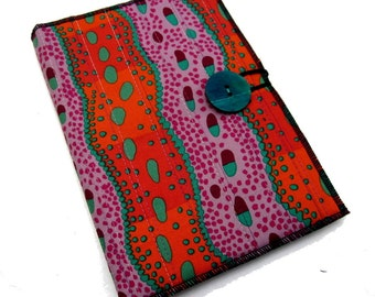 Fabric Covered Notepad Portfolio - Colorful Path