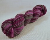 NEW Hand Dyed DK Weight Yarn Polworth and Silk - Tango by Yarn Hollow - Spellbound Raspberry Multi Color 3 ounces 285 yards