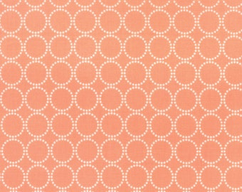 Sundrops - Circled in Coral Peach: sku 29014-26 cotton quilting fabric by Corey Yoder for Moda Fabrics - 1 yard