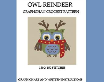Owl Reindeer - Graphghan Crochet Pattern