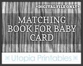 Matching Baby Shower Book Request Insert Card