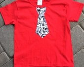 Mustache Tie T-Shirt Red Or Purple SMALL
