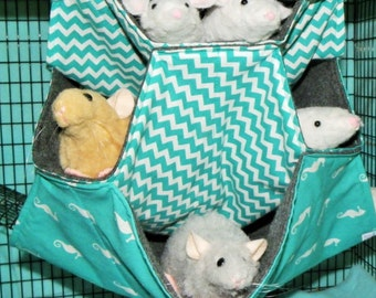 Rat Hammock, 4 level honeycomb, 4 level rat Hammock,Small Animal Hammock, Hammock,Rat Bed, Rodents Hammock,Small pet hammock, rat hammock A