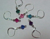 Multi-Colored Swaroski Crystal Removable Stitch Markers - Item No. 817