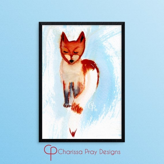 Clever Fox: Printable Art Clever Fox Nursery Wall Art By