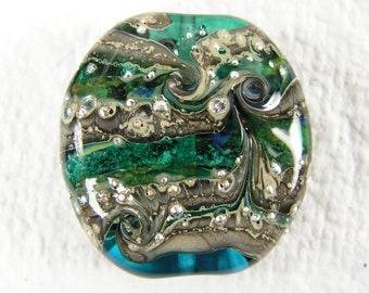 Glass memorial bead: Starry Night series, medium tab (pet)