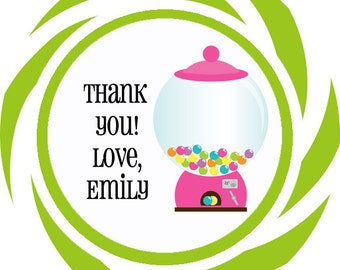 Candy shop theme thank you tags, favor tags, gift tags - set of 24