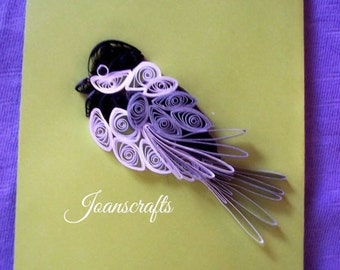 Quilled Chickadee for Scrapbooking/Cardmaking