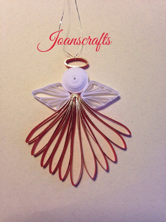 Small Quilled Holiday Angel Ornament