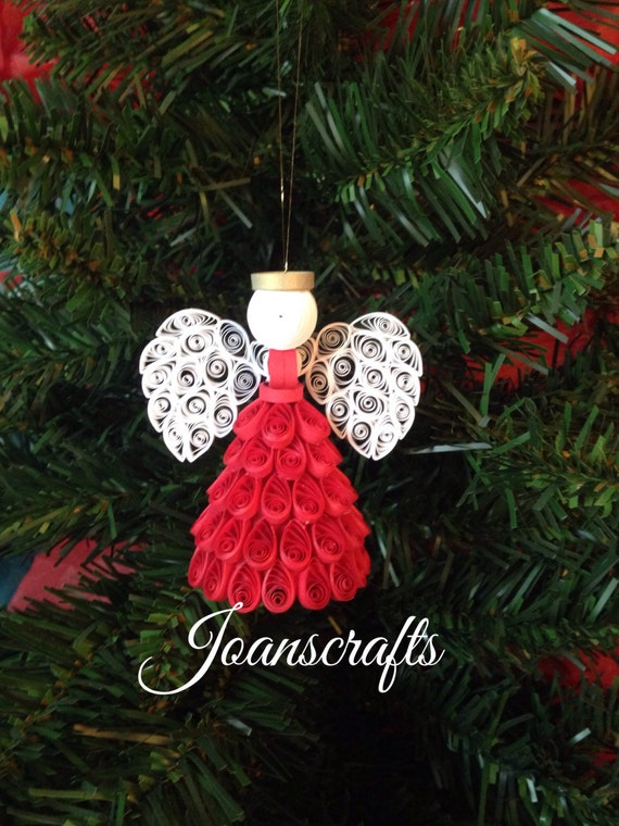 Choose your color Angel Ornament or topper in Quilling