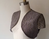 CLEARANCE IMMEDIATE SHIPPING Dark Lavender and Gold Shrug