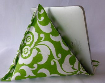 iPad / Kindle Lap Pillow Stand Bean Bag Stand : Bright Green
