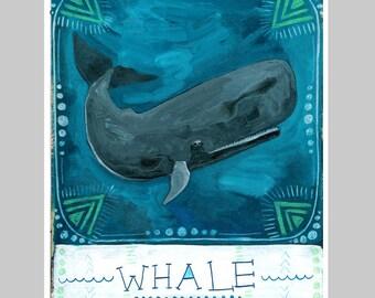Animal Totem Print - Whale