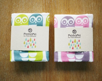 owl gauze hand towel
