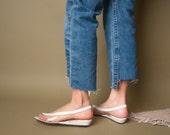 white clear shoes / vinyl sandals / mint vintage shoes / 7 / 586s