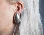 coming soon - BEN AMUN egg earrings / geometric earrings / modernist earrings / 915a