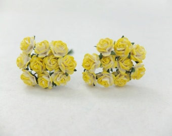 20 10mm yellow shades mulberry roses