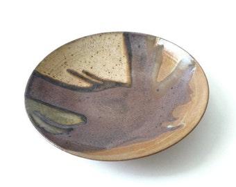SUMMER SALE Wayne Chapman Modernist Studio Pottery Plate Mid Century Modern