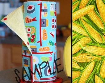 Unpaper Towel | Reusable Paper Towel - Corn (0339606) Tree Saver Towel | Kitchen Towel | Snapping Cloth Paperless Towel & Wet Bag