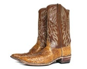 USA Vintage Justin Sea Alligator Cowboy Western Exotic Boots Size 10.5 B Men's
