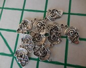 BULK 50 c Skeleton play guitar Day of the Dead Charms findings DIY Assemblage Art Jewelry Making Supplies