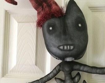 PreHalloweenSale Primitive Santa Halloween Skeleton Cat