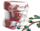 Peppermint Stick Soap, Vegan Soap, Handmade Soap, Christmas Soap, Candy Cane Soap, Simple Soap, Stocking Stuffer, Gift for Her, Natural Soap