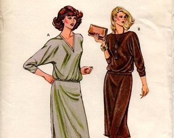 Unused Misses TOP & SKIRT PATTERN Kwik Sew #982 Size 14-20 Dolman Sleeve Pullover Pull-on Skirt Knits Vintage Sewing 1990's