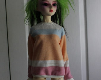 Sorbet Stripe Sweat Shirt for 60cm SD BJD 1/3 Dolls