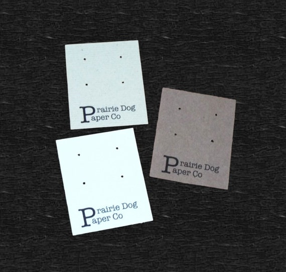 Post earring cards, set of 30, personalized earring card, jewelry supply, 2x2.5 inch, jewelry card