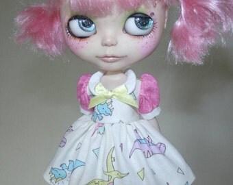 Dinosaurs Babydoll Dress for Blythe & Licca