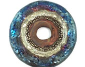 RESERVED LISTING Raku Ceramic Cabochon Donut Raku Jewelry Supply Handmade by MAKUstudio