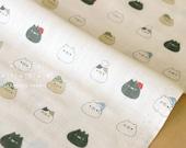 Japanese Fabric - Sonoda cat hats double gauze - A1 - 50cm