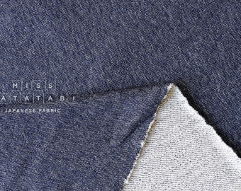 Japanese Fabric FrenchTerry Knit - blue - 50cm