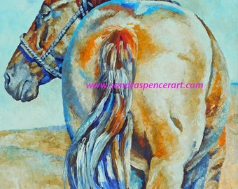 "Original Sorrel Horse Oil Painting 20""x24"" with a hemlock slat frame"