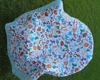 Modern Baby Crib Quilt - Animal ABC'S
