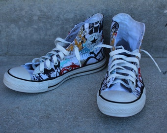 costume supply VINTAGE Chuck Taylor CONVERSE hi top Shoes USA mens size 7