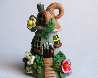 Miniature  Whimsical Fairy House OOAK by C. Rohal