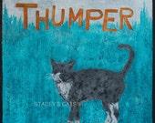 Thumper Cat Art Print