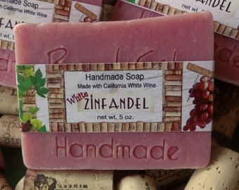 White Zinfandel Wine Handmade Cold Process Soap READY to Ship