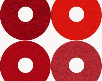 Wool Felt Bundle ChrIstmas Reds