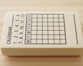 Rubber stamp - stamp of monthly calendar - business card size