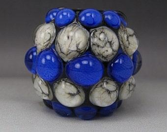 Handmade Lampwork Glass Dot Focal Bead by Jason Powers SRA